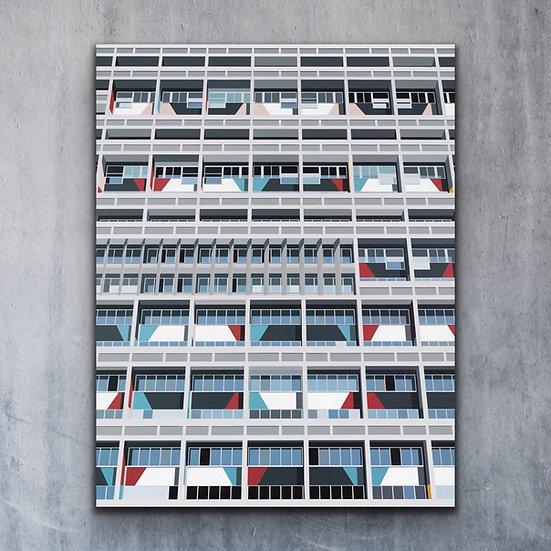 'Modernhaus' - Limited Edition Print Mounted On Aluminium Dibond