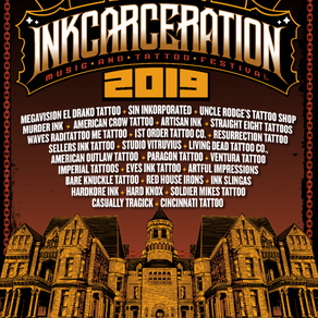 INKCARCERATION Music and Tattoo Festival Announces Featured Tattoo Artists and Shops