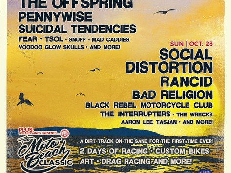 Surf City BlitzReveals Band Performance &Moto Beach Classic Motorcycle Event Times