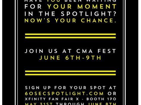 BLACK RIVER ENTERTAINMENT HOSTS  FIRST-EVER '60-SECOND SPOTLIGHT' AT  2019 CMA MUSIC FEST