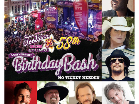 World Famous Tootsie's Orchid Lounge 58th Annual Birthday Bash Set For Wednesday, October 10th