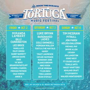 Tortuga Music Festival Rescheduled For Oct 2-4 w/ Luke Bryan, Miranda Lambert, Tim McGraw & More