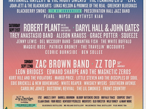 Bourbon & Beyond Returns For Third Year With Eclectic Lineup Of Top Rock, Roots And Folk Acts