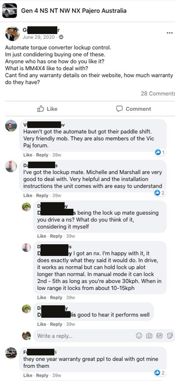 """""""Very friendly mob.""""  """"Michelle and Marshall are very good to deal with.""""  """"... it does exactly what they said it would do.""""  """"... great ppl to deal with."""""""