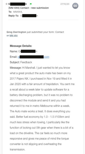 """""""The Auto mate works great. It does everything you said."""""""