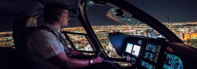 Hubschrauber Nachtflug über den Las Vegas Strip - Treasure Tours of Nevada - deutschsprachige Tour