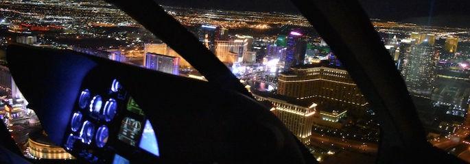 Heli Nacht Flug ueber Las Vegas - Treasure Tours of Nevada - deutsche Tour
