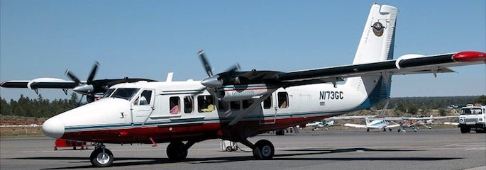 Grand Canyon Flugzeug mit Landung - Treasure Tours of Nevada - deutschsprachige Tour