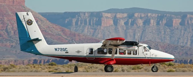 Grand Canyon Flugzeugtour - Flug mit Landung am South Rim - Treasure Tours of Nevada - deutschsprachige Touren