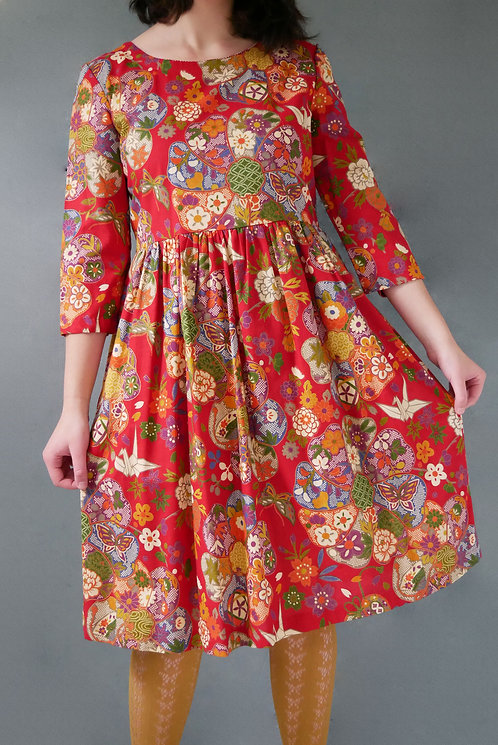 YURIKO DRESS - red 50% 0ff