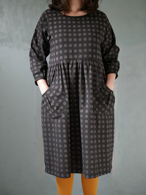 HINATA DRESS - black/grey