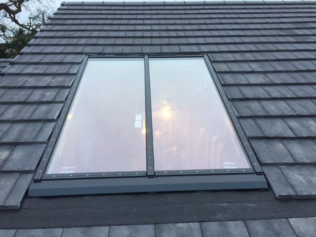 Newly installed roof light