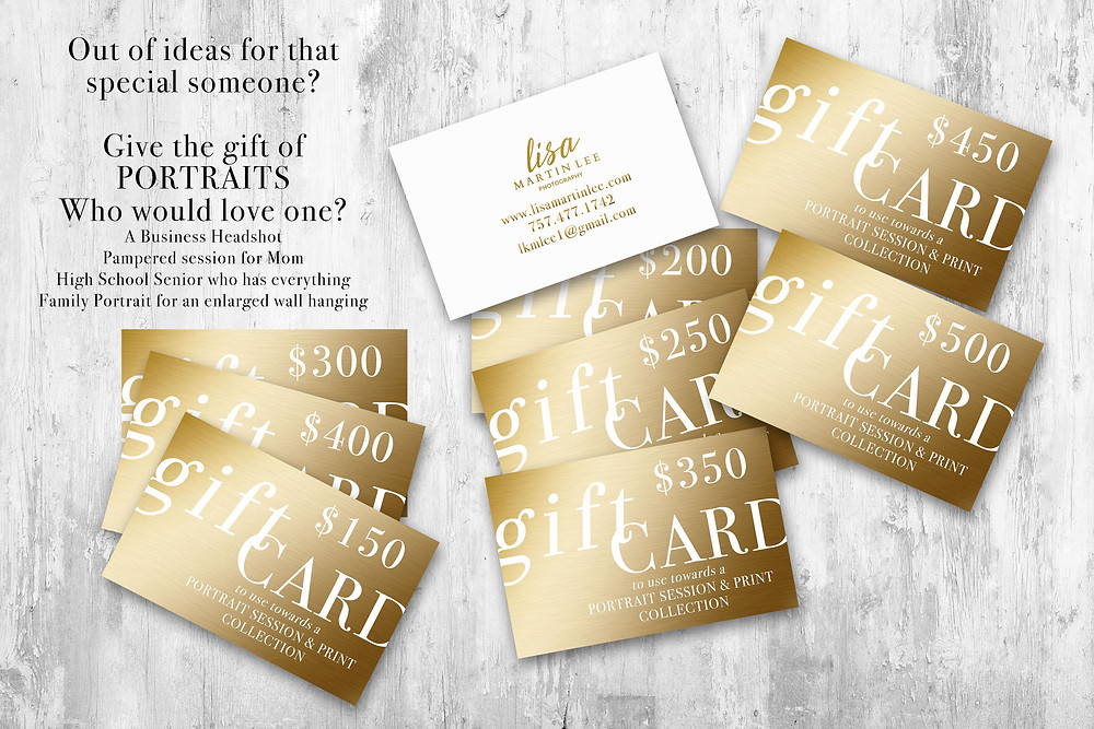 Portrait Session Gift Cards