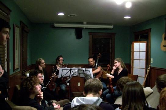 performance of Atitlan, Northeastern Ohio New Music house concert, 2009