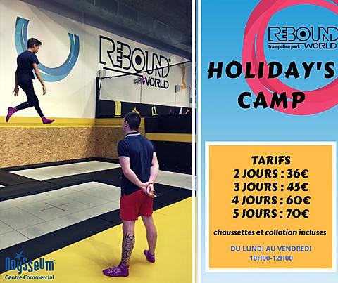 activités pendant les vacances scolaires tarifs - Holiday's Camp Rebound world