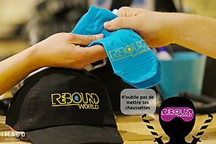 Rebound World Montpellier Jump trampoline park odysseum activités enfants adultes Chaussettes antidérapantes RBW