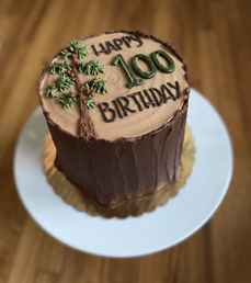 "6"" Tree Stump Cake"
