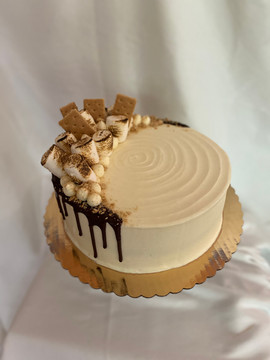 "9"" S'mores cake"