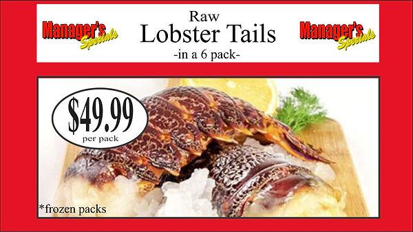 Samtass april 2020 raw lobster tails 6 p