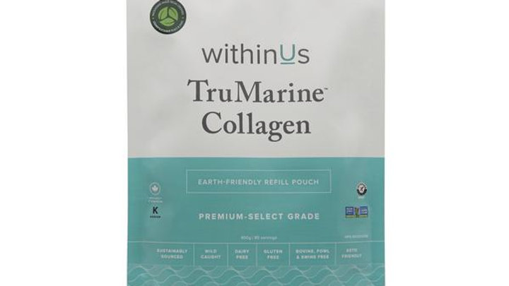 100% COMPOSTABLE POUCH withinUs TruMarine™ Collagen - 80 servings