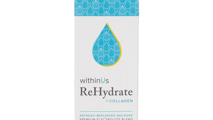 withinUs ReHydrate + TruMarine™ Collagen Stick Packs - LEMON