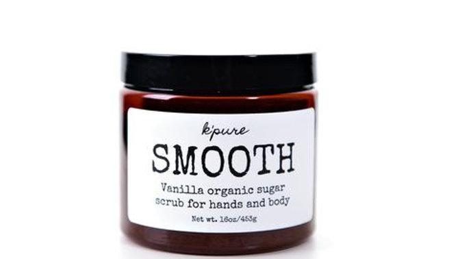 SMOOTH Organic Sugar Scrub for Hands and Body