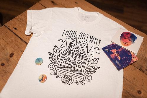 Vánoční balíček - 2x CD, libovolné triko, placky
