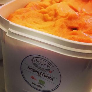 Havtorn og gulerod Isøre Is