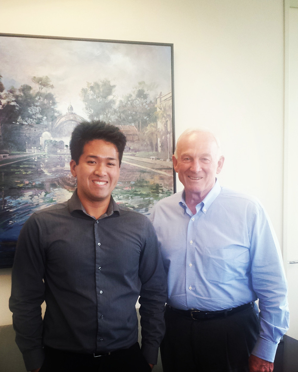 Here is Josh with former mayor, Jerry Sanders!