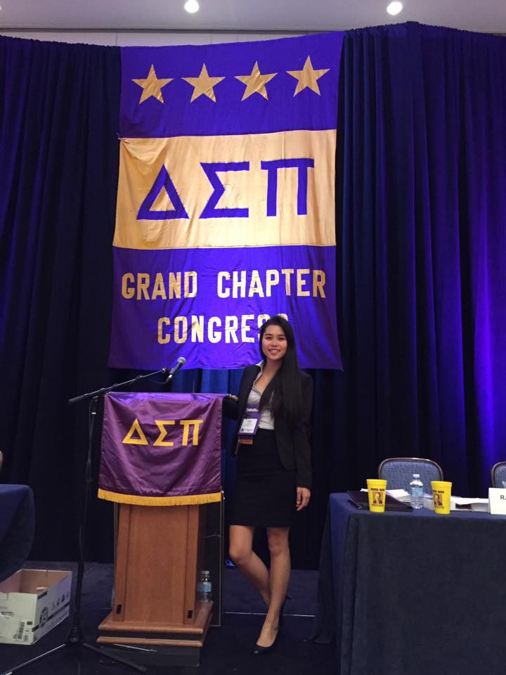 So proud of our dedicated brother and current Senior Vice President, Laura for representing our chapter all the way in Chicago!