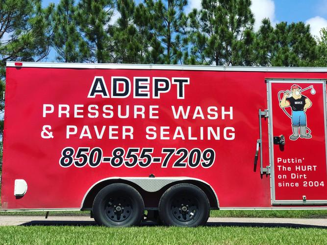 Adept Pressure Washing Trailer