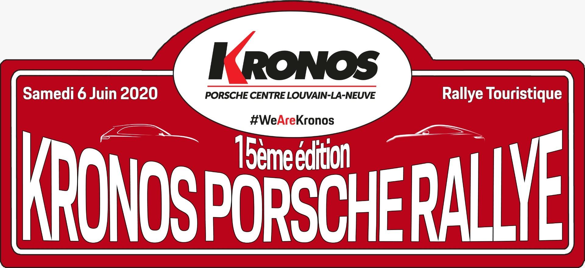 KRONOS PORSCHE RALLY 15ème édition