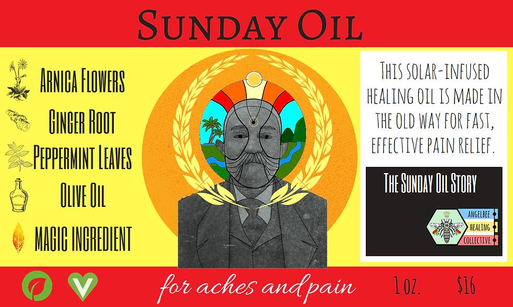 """Sunday Oil"" Label."