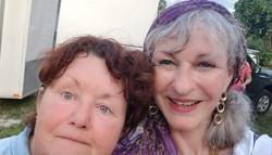 Lynn Lane and Kathy Pioneer days