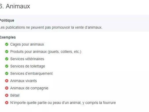 Facebook modifie sa politique pour nos animaux!
