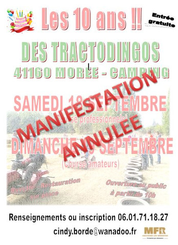 "Manifestation ""Tractodingos"" annulée !"