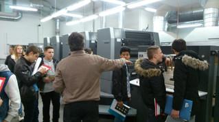Visite d'une imprimerie blésoise