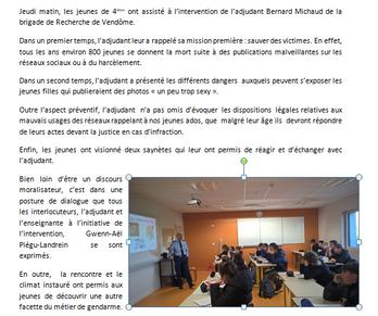 Intervention de l'adjudant Bernard Michaud de la brigade de Recherche de Vendôme.