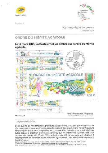"""Le timbre """"Ordre du mérite agricole"""""""