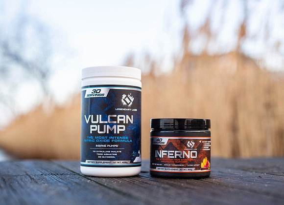 Inferno and Vulcan pump stack!