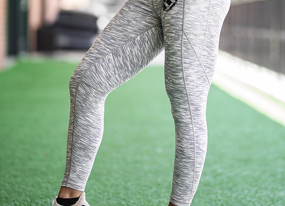 Static White Leggings with Logo