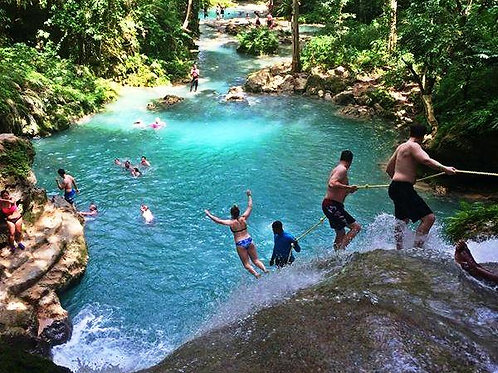 Blue Hole Secret River Tour and Dunns River Falls