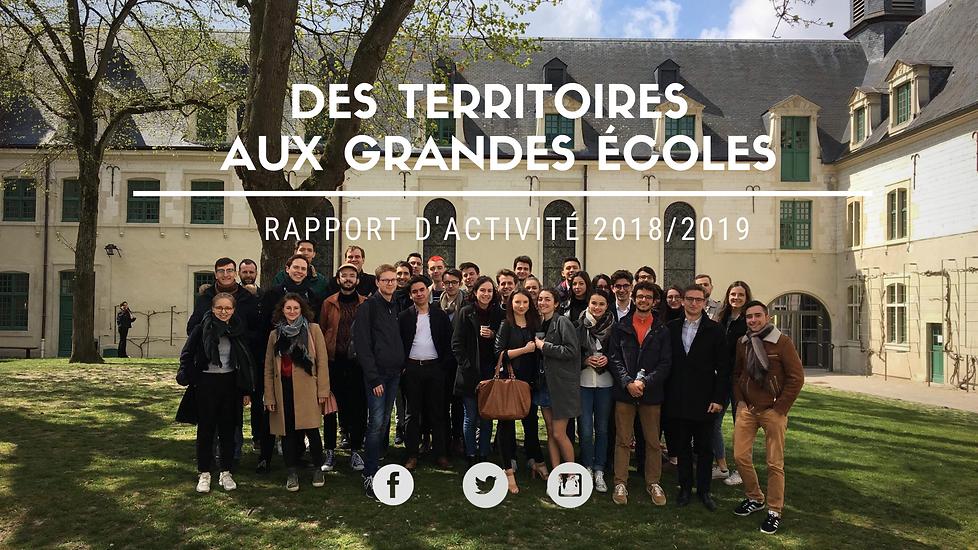 Rapport d'activité 2018/2019 Des territoires aux grandes écoles
