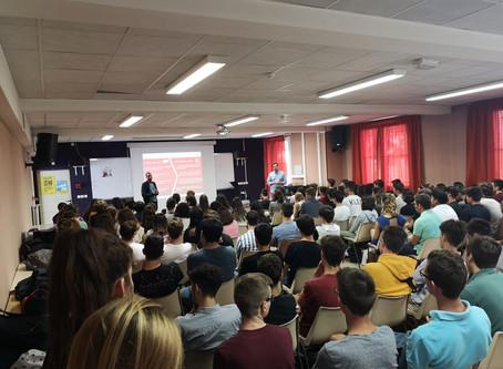 Première intervention de l'année scolaire à Castres !
