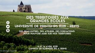 Université de Printemps Des Territoires aux Grandes Ecoles - 13 et 14 avril à Reims