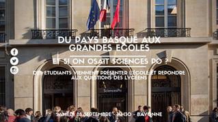 """""""Et si on osait Sciences Po?"""" - Réunion d'information à Bayonne, 28/09"""