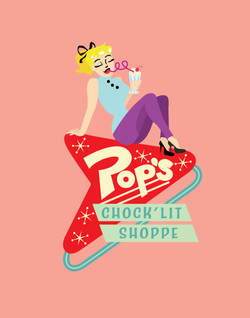 Pop's Diner Neon Sign