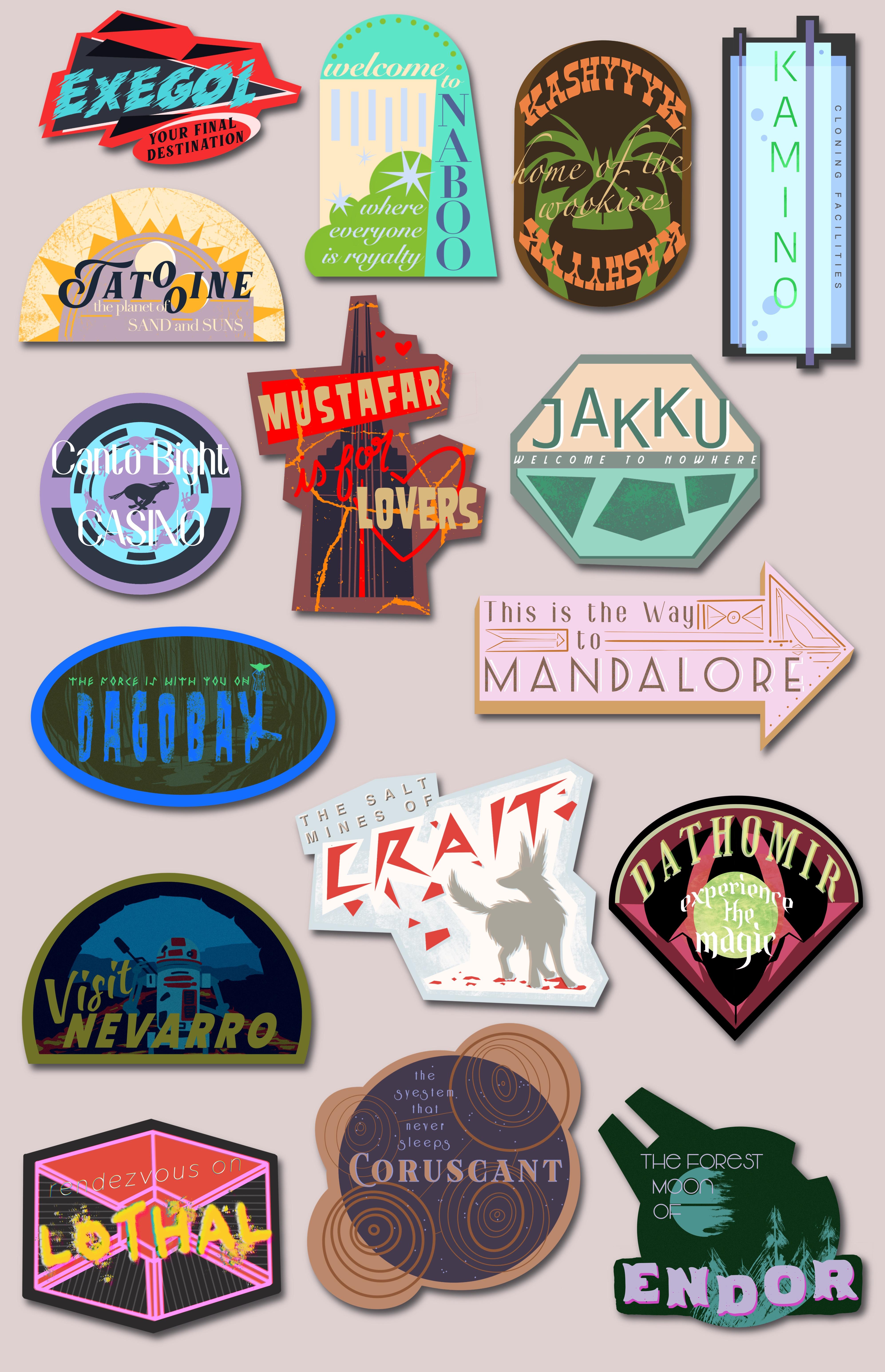 Star Wars Travel Stickers