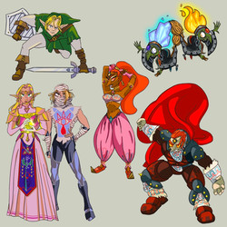 Zelda Character Redesigns