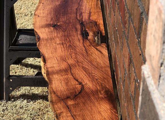 Bowed front live edge mesquite